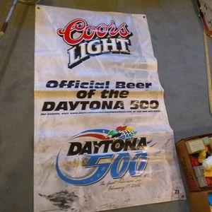 Coors Light Daytona 500 Vinyl Banner Sign for Sale in Lawrenceville, GA