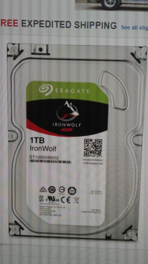 Seagate Ironwolf ST1000VNB02. 1TB 3.5inch Hard Drive New for Sale in Oakland Park, FL