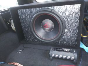 """Massive audio 15"""" subwoofer with box for Sale in Fairless Hills, PA"""