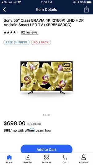 Sony XBR55X800E 55-Inch 4K Ultra HD Smart LED TV for Sale in Houston, TX