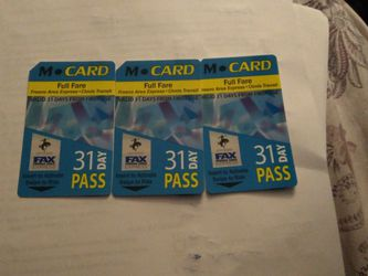 31 Day Bus Passes for Sale in Fresno,  CA