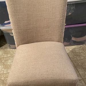 Beige Weaved Fabric Chair for Sale in Clinton Township, MI