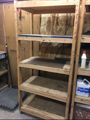 Shelves(Metal & wood)with wheel for Sale in Gaithersburg, MD