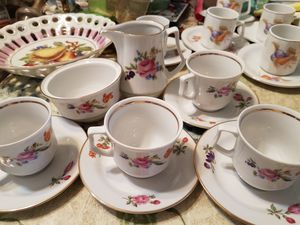 Porcelain collectible tea. German numbered porcelain set.10 piece for Sale in Spring Valley, CA