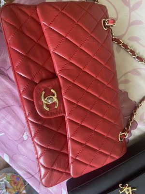 Red authentic vintage Chanel bag for Sale in Queens, NY