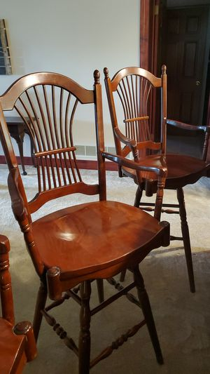 """Barstool chairs 43"""" tall cherry wood beautiful condition for Sale in Canton, OH"""