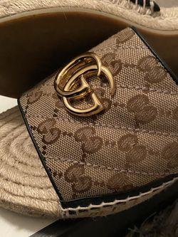 Gucci - GG matelassé canvas espadrille sandal for Sale in Miami,  FL