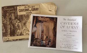 Vintage Souvenir Booklet The Beautiful Caverns of Luray Virginia for Sale in Harrodsburg, KY