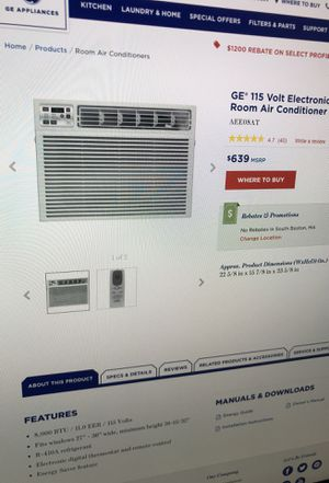 GE 115 Volt Electronic Heat/Cool Room Air Conditioner for Sale in Boston, MA