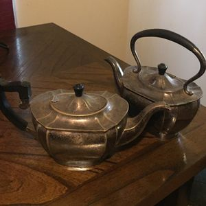 Silver Antique Sheffield Tea Kettles From England for Sale in Visalia, CA