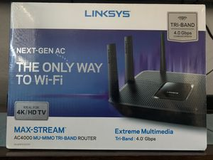 Linksys Max-Stream AC4000 Tri-Band WiFi Router (EA9300) for Sale in Littleton, CO