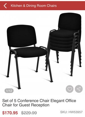 Conference chairs Elegant office chair for guest set of 5 for Sale in La Mirada, CA