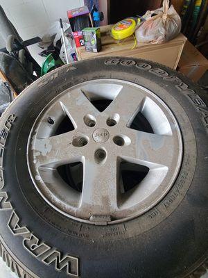 """Factory Jeep wheels 17"""" $250 obo for Sale in Ruskin, FL"""