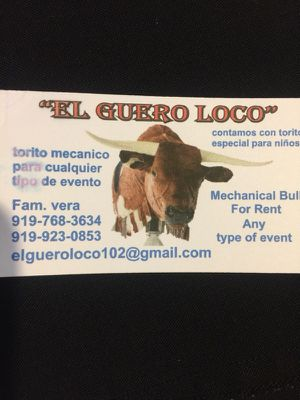 Torito Mecánico show any events!! for Sale in Chapel Hill, NC