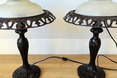 Pair of Antique Art Nouveau Table Lamps for Sale in San Francisco,  CA