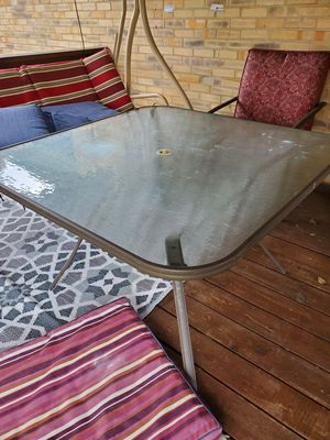 Outdoor glass table for Sale in West Mifflin, PA