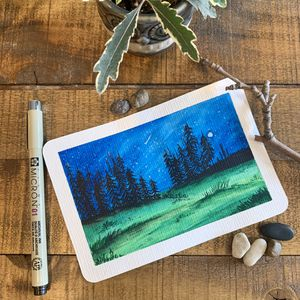 Original watercolor art + postcard Perfect for gifts during the holiday season Perfect Christmas gifts for Sale in Somerville, MA