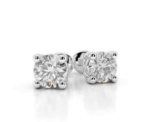 0.8 Ct Prong Set Round Diamond Stud Earring 14k White Gold for Sale in New York, NY