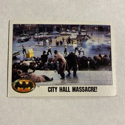 1989 Topps, Batman Movie, 57 City Hall Massacre for Sale in Phelan,  CA
