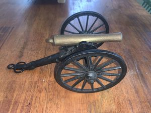 1864 Civil War Cast Iron & Brass Table Top Artillery Cannon for Sale in Oklahoma City, OK
