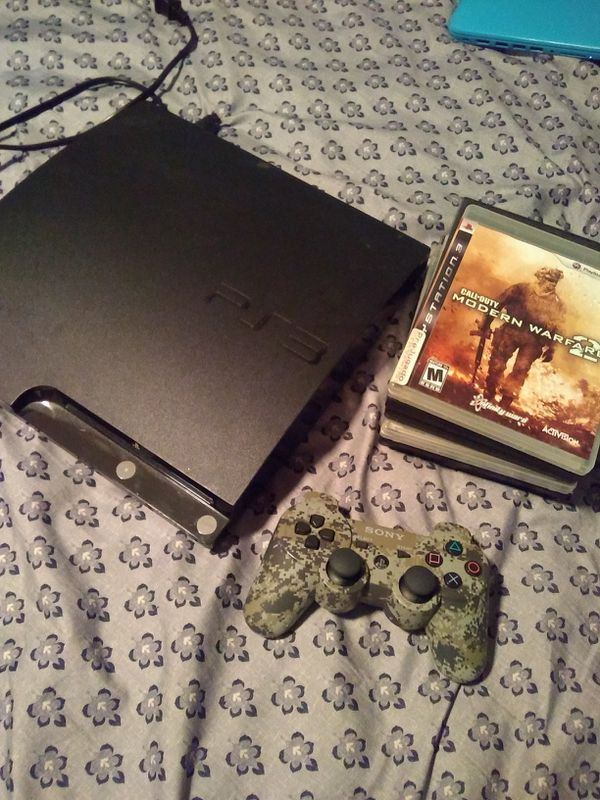 Ps3, game controller, and 6 games