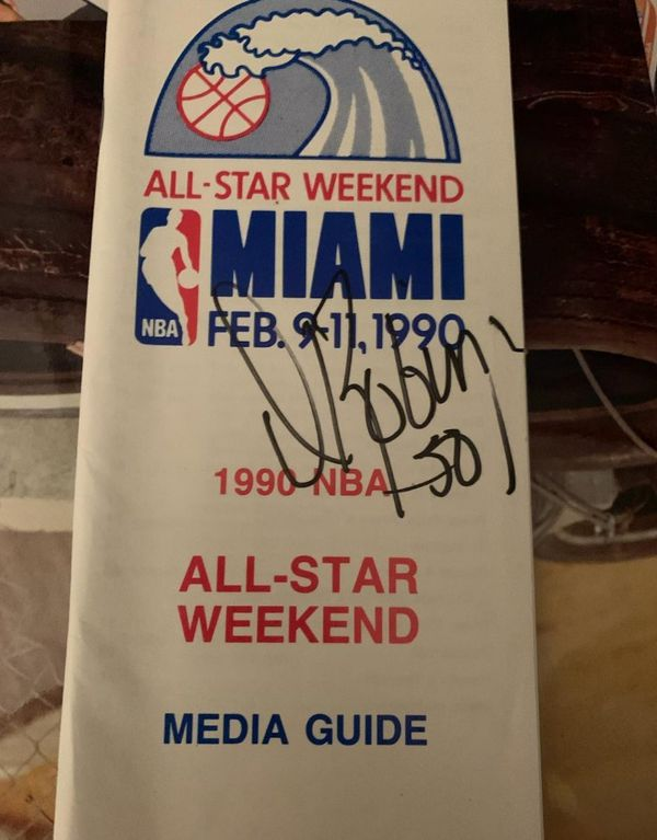 NBA All Star Media Guide David Robinson Autograph