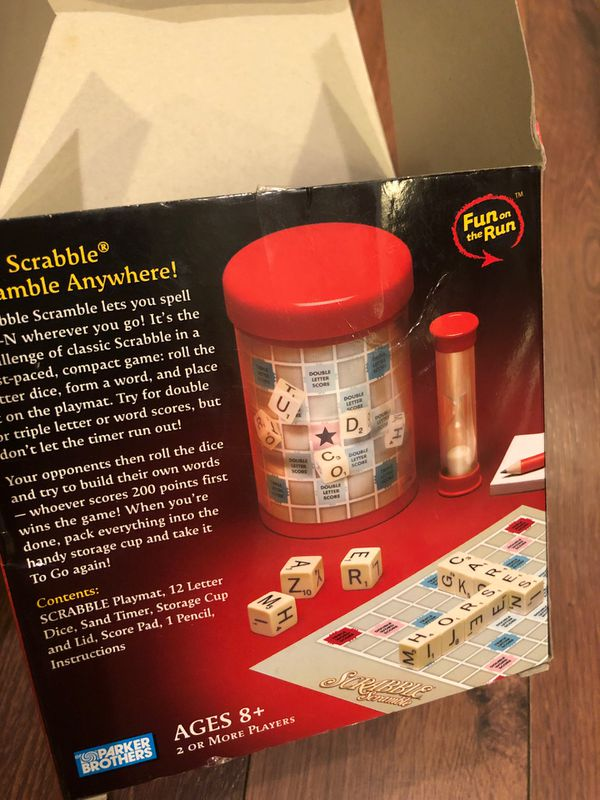 New Scrabble Scramble - travel version - Ages eight and up - two or more players