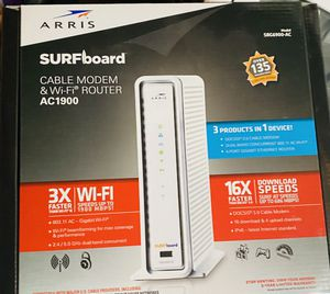 ARRIS Surfboard SBG6900-AC Cable Modem With AC1900 WiFi Router for Sale in South Windsor, CT