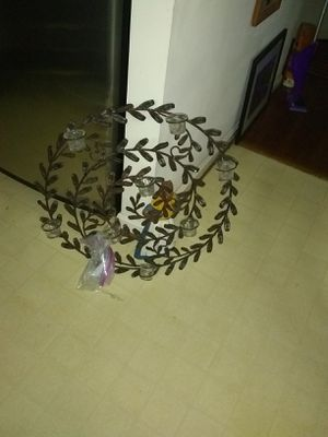 Decorativ metal wall candle holder for Sale in Alexandria, VA