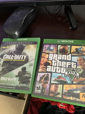 XBOX ONE GAMES GTA 5 V CALL OF DUTY 4 MODERN WARFARE INFINITE LEGACY EDITION for Sale in Alafaya, FL