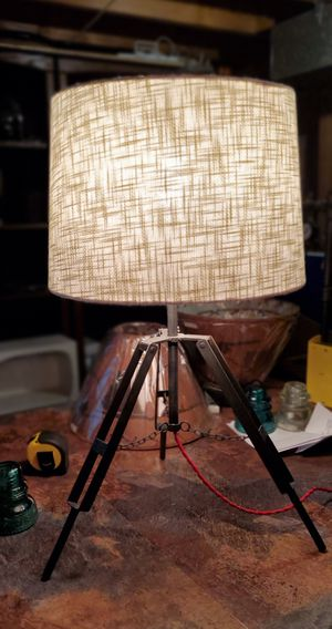 """Industrial tripod lamp with 16""""shade. for Sale in Grove City, OH"""