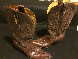 Stallion hand made custom order American alligator tail cowboy boots for Sale in Salt Lake City, UT
