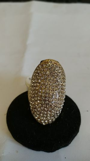 Gold Tone Long Oval Rhinestone Ring for Sale in Bronx, NY
