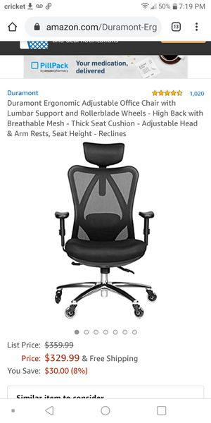 Ergonomic adjustable office chair with lumbar support for Sale in Phoenix, AZ