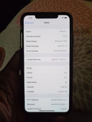 iPhone XS Max 256 Gig Bad Imei for Sale in New Haven, CT