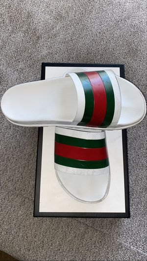 gucci slides mens all white for Sale in Las Vegas, NV