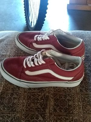 """Vans"" burgundy old skool pro's shoes for Sale in Whittier, CA"