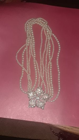 Faux pearl necklace, stones for Sale in Long Beach, CA