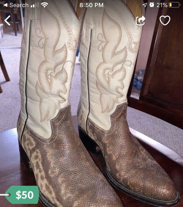 Tesmescal Lizard Skin Cowboy Boots