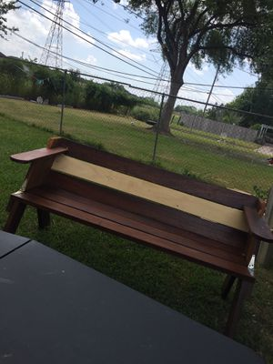 Homemade bench/table// mesa y banca for Sale in Houston, TX