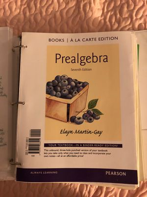 Prealgebra (Seventh Edition) for Sale in Hesperia, CA