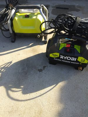 Ryobi electric pressure washers only no hose or attachments both tested and work great for Sale in Moreno Valley, CA