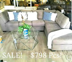 $798Special ASHLEY'S Brand new PLUSH GREY SECTIONAL [ Signature Design] COMES IN RED and BROWN w/ Opposite CHAISE OPTION!! for Sale in Oviedo,  FL