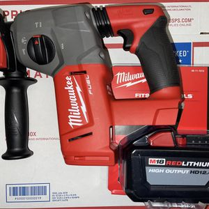 "New! Milwaukee M18 Fuel 1"" SDS PLUS Rotary Hammer Drill W/ 12,0 Included! for Sale in North Brunswick Township, NJ"