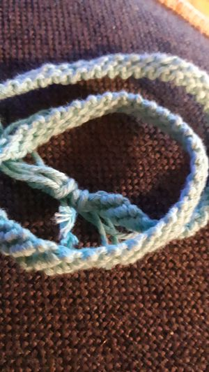 Aqua Homemade Friendship Braclet for Sale in Rockville, MD