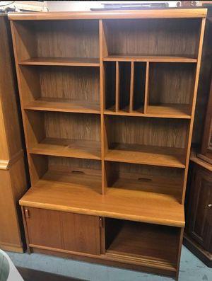 Danish Teak Mid Century MCM Style Bookshelf Display w/ Cabinet Base for Sale in Syracuse, NY