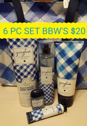 Nice 6 piece set of Bath & Body Works Gingham scent! All new for Sale in Oak Park, MI