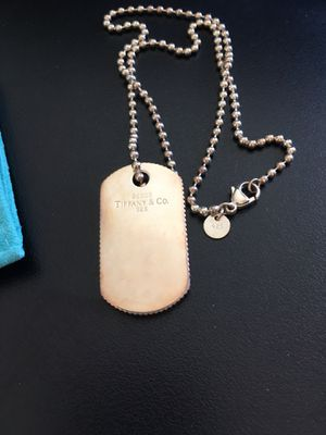 Tiffany Dog Tag (engraved) for Sale in Edgewater, NJ