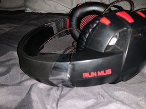 RUN MUS high quality,noise canceling gaming headphones for Sale in Washington, DC