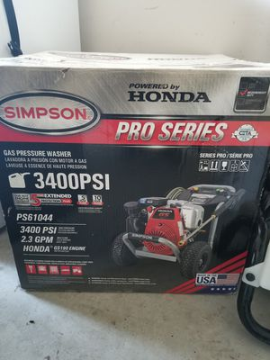 Simpson Honda powered pressure washer for Sale in Baytown, TX